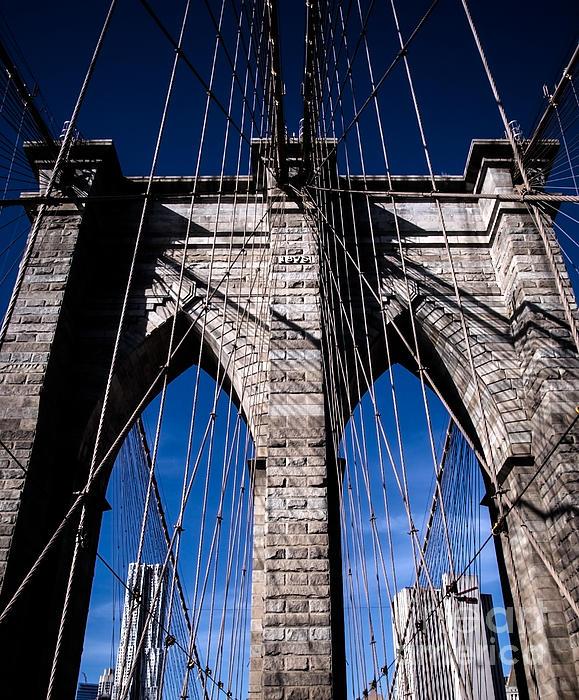 Brooklyn Bridge - Cables Print by James Aiken