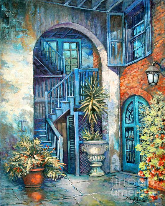 Brulatour Courtyard Print by Dianne Parks