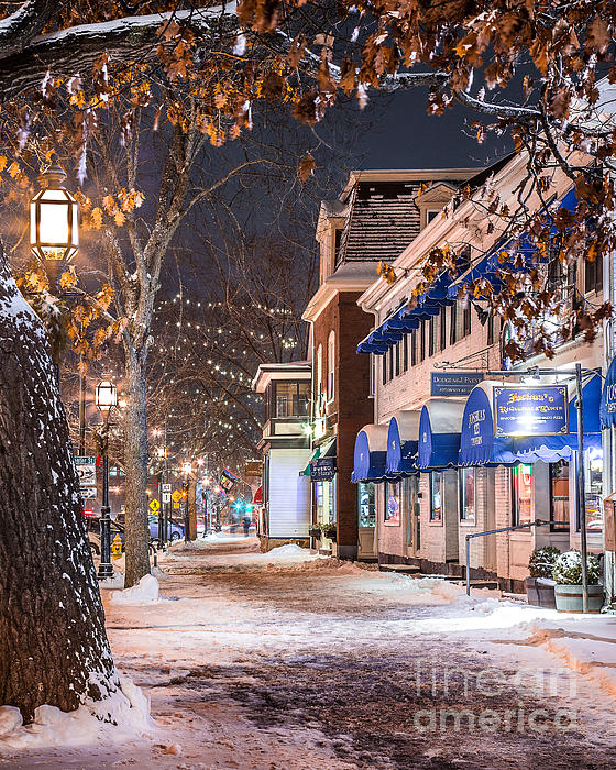 Brunswick Maine Street Scene By Benjamin Williamson