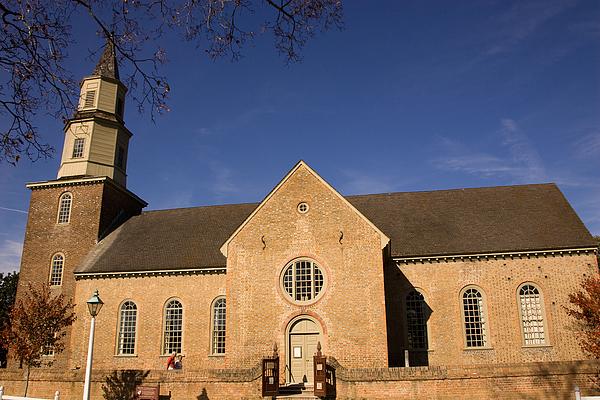 Bruton Parish Church Print by Mark Currier