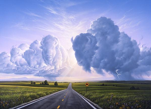 Buffalo Crossing Print by Jerry LoFaro