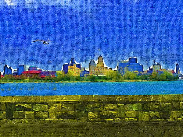 Buffalo Ny Skyline Print by Deborah MacQuarrie