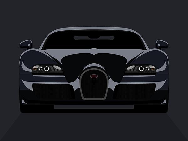 Bugatti Veyron Dark Print by Michael Tompsett