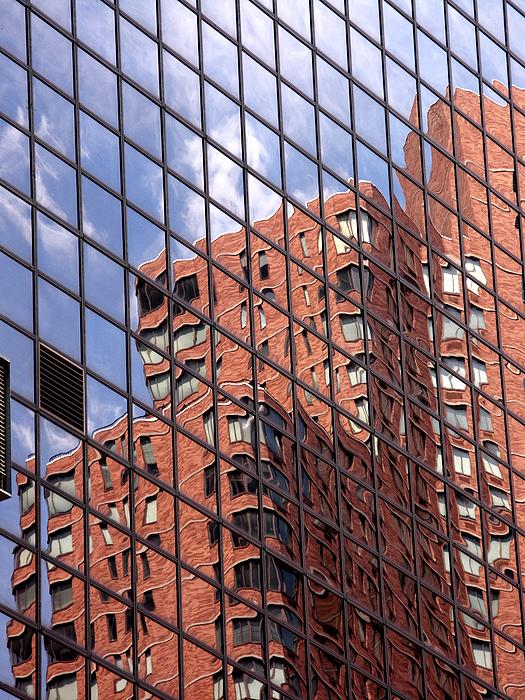Building Reflection Print by Tony Cordoza