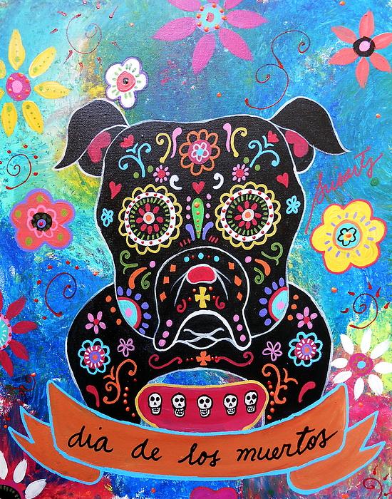Bulldog Dia De Los Muertos By Pristine Cartera Turkus