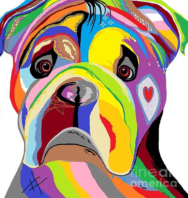 Bulldog Print by Eloise Schneider