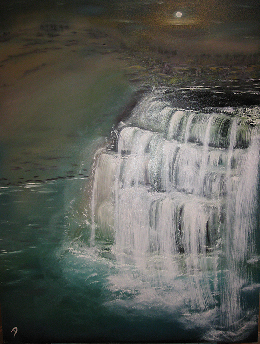 Burgess Falls Print by Delnora Reed
