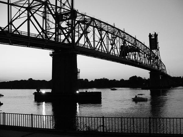 Burlington Bristol Bridge Print by D R TeesT