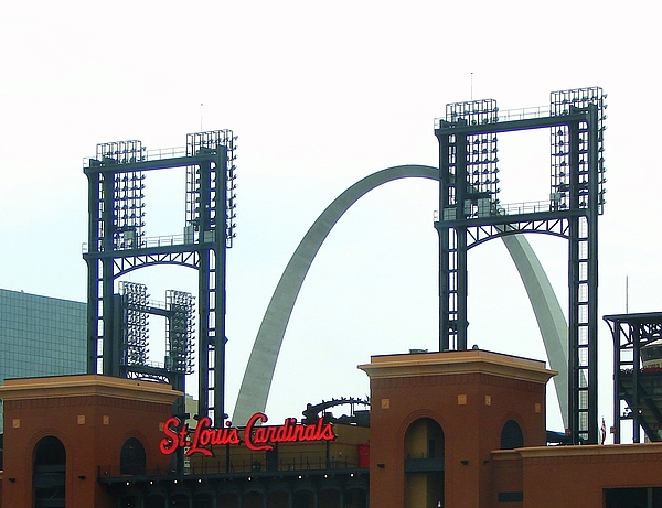 J R Seymour - Busch Stadium With Arch