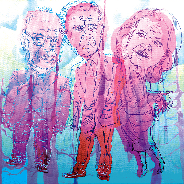Bush Administration 2008 Print by Danielle Criswell