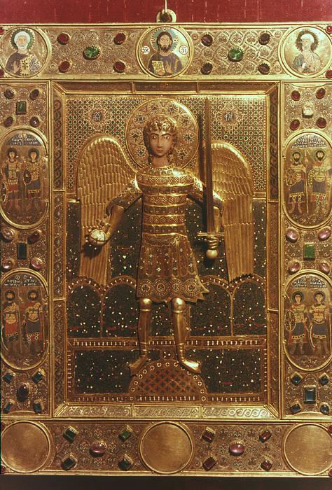 Byzantine Art: St. Michael Print by Granger