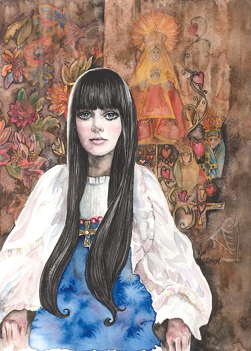 Byzantine Madonna Print by Kim Whitton