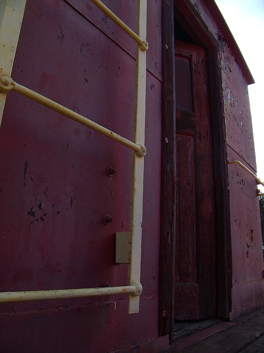 Caboose Door Print by The Stone Age