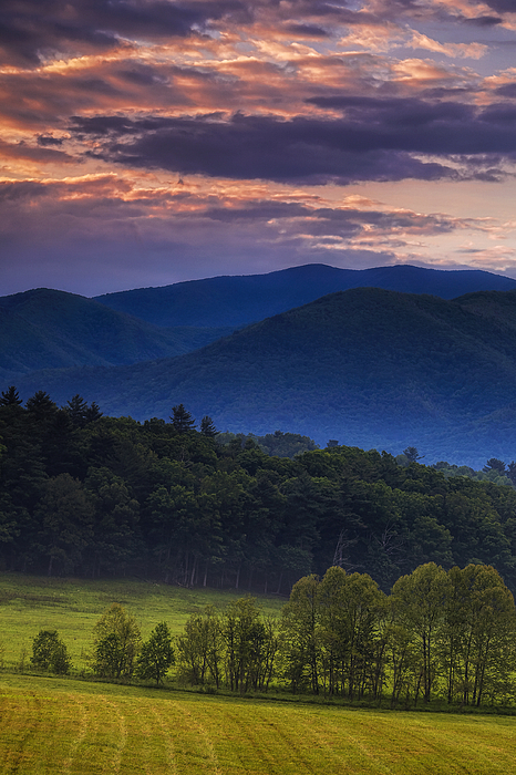 Cades Cove Morning Print by Andrew Soundarajan