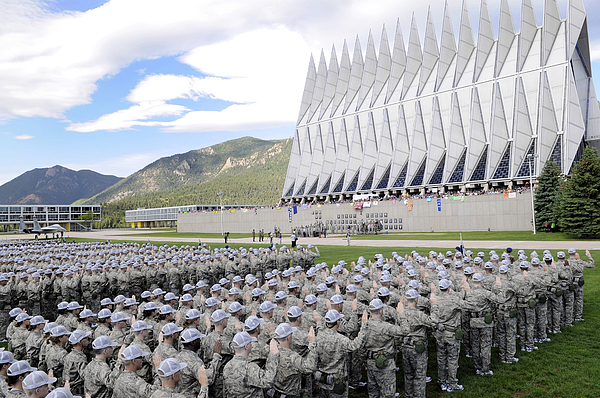 Cadets Recite The Oath Of Allegiance Print by Stocktrek Images