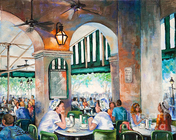 Cafe Girls Print by Dianne Parks