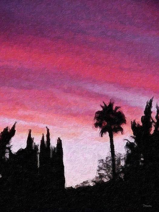 California Sunset Painting 2 Print by Teresa Mucha