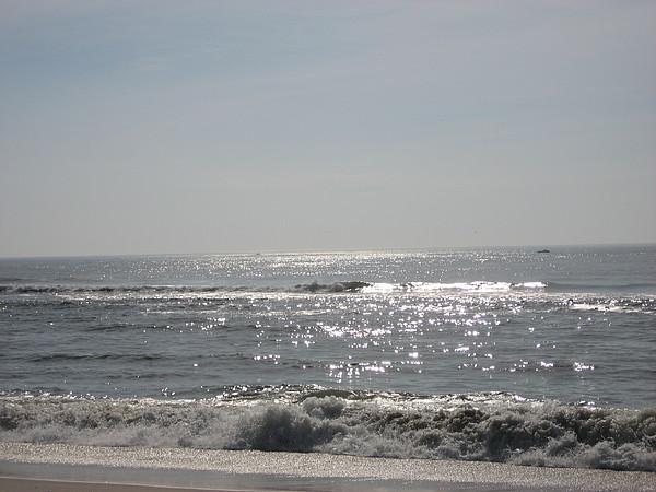 Calming Waves Print by Jennifer  Sweet