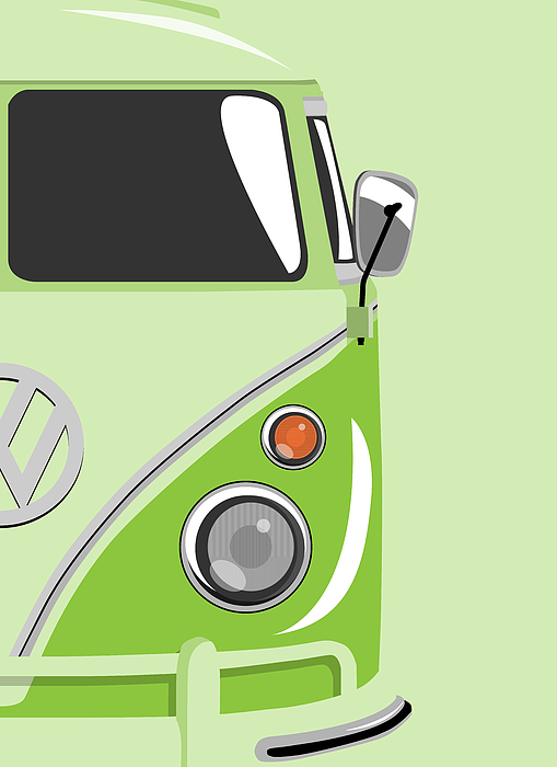 Camper Green 2 Print by Michael Tompsett