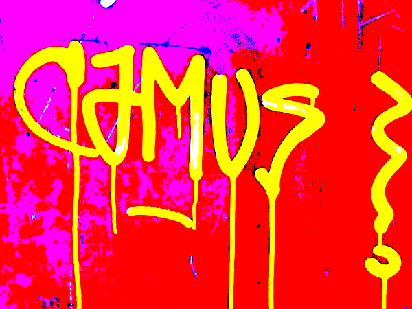 Camus ... Graffitied Print by Funkpix Photo Hunter