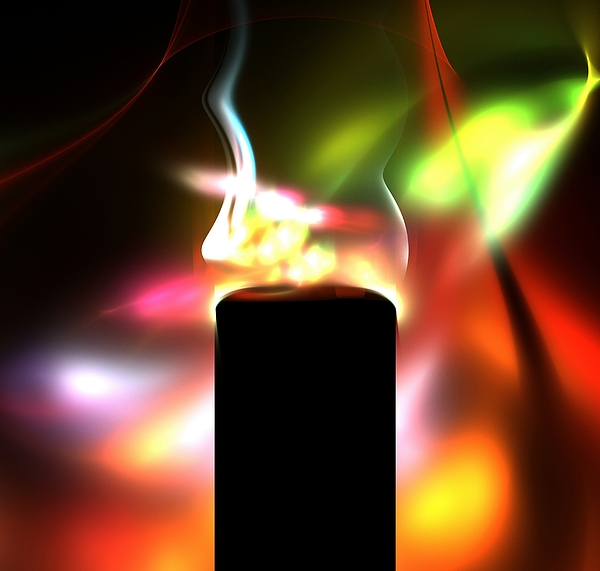 candle and colors print by stefan kuhn