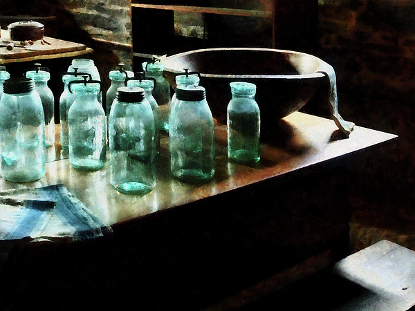 Canning Jars Print by Susan Savad