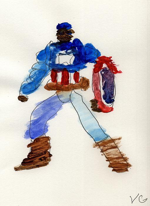 Captain America Print by Vincent Gitto