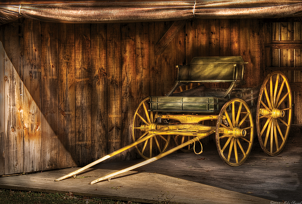 Car - Wagon - The Old Wagon Print by Mike Savad