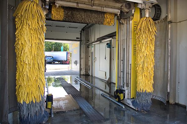 Car Wash Interior Print by Jaak Nilson