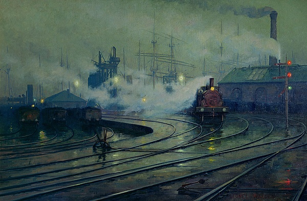 Cardiff Docks Print by Lionel Walden