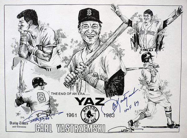 Carl Yastrzemski Retirement Tribute Newspaper Poster Print by Dave Olsen
