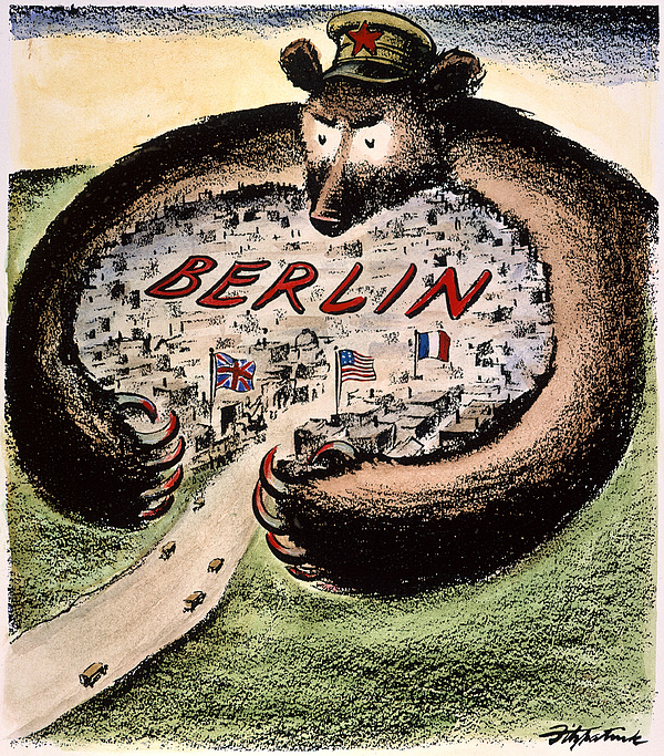 Cartoon: Cold War Berlin Print by Granger