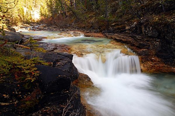 Cascade On Beauty Creek Print by Larry Ricker