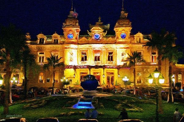 Casino Monte Carlo Print by Jeff Kolker