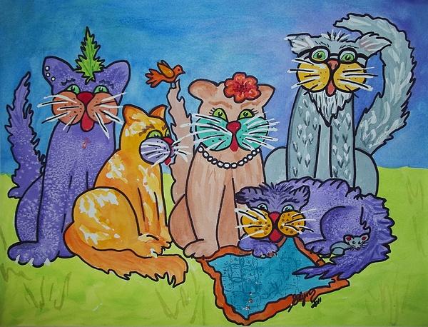 Ellen Levinson - Cat Family Gathering