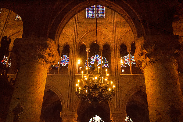Cathedral Chandelier Print by Mick Burkey