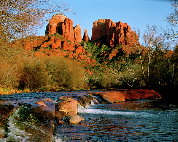 Cathedral Rock At Redrock Crossing Print by Crystal Garner