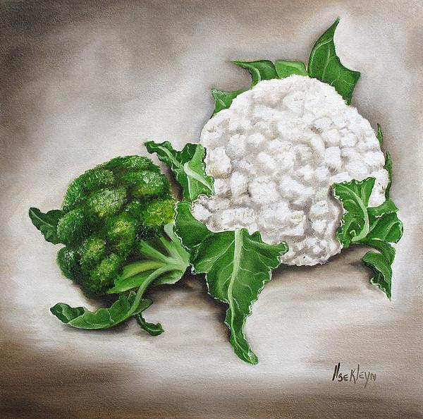 Cauliflower Print by Ilse Kleyn