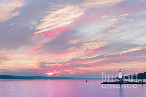 Michele Steffey - Cayuga Watercolor Sunset