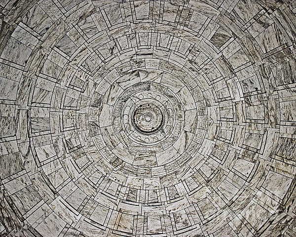 Tom Gari Gallery-Three-Photography - Ceiling at the District of Columbia War Memorial