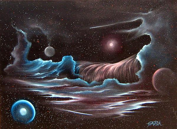 Celestial Wave Print by David Gazda