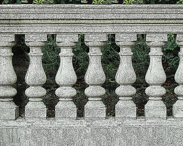 Cement Fence Print by Nilla Haluska