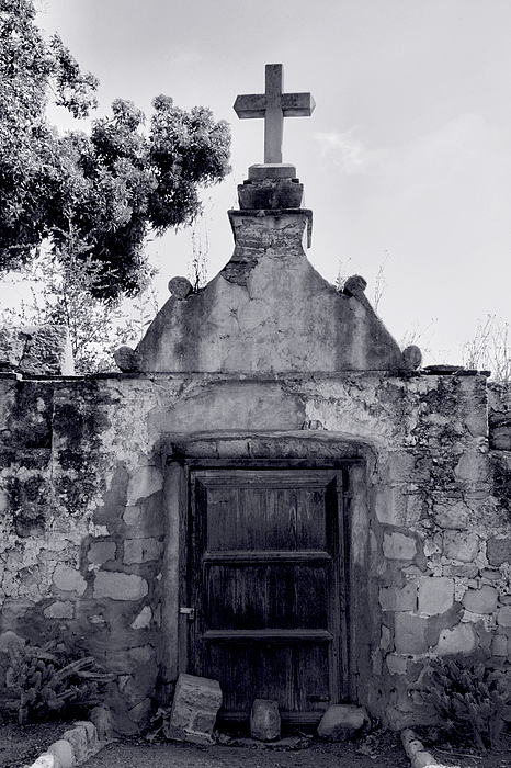 Cemetery At Mission Santa Barbara I Print by Steven Ainsworth