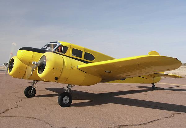 Cessna T-50 Bobcat N59188 Casa Grande Airport Arizona March 5 2011 Print by Brian Lockett