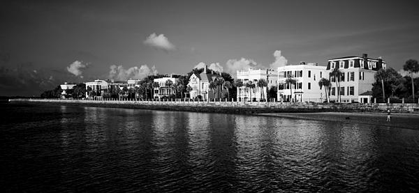 Charleston Battery Row Black And White Print by Dustin K Ryan