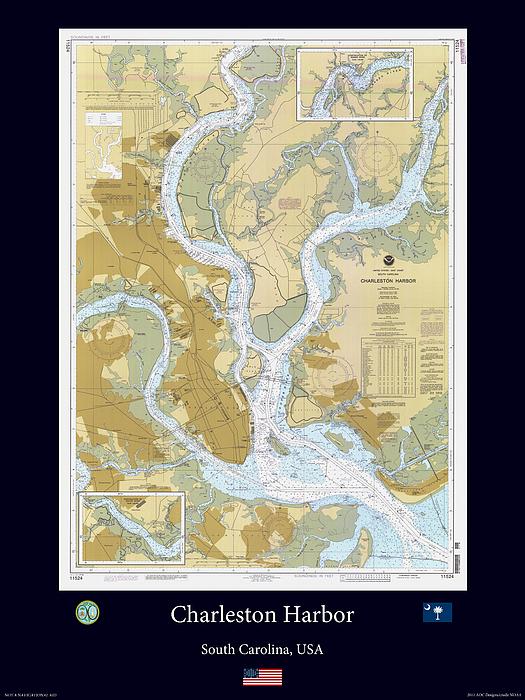Charleston Harbor Print by Adelaide Images