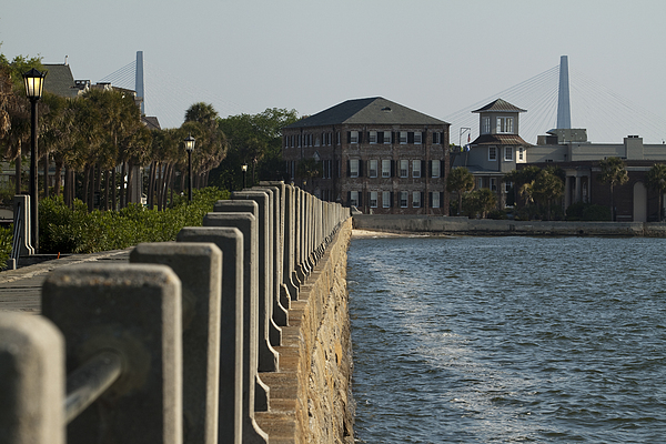 Charleston South Carolina Waterfront Battery Print by Dustin K Ryan