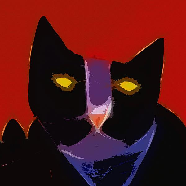 Chat Noir Print by Lutz Baar