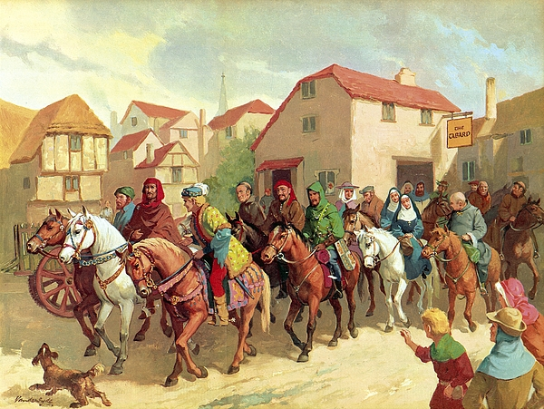 Chaucer's Pilgrims Print by van der Syde