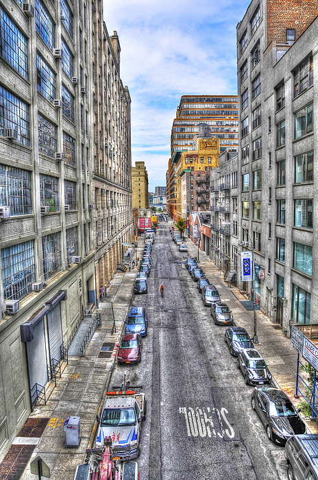 Chelsea Street From The High Line Print by Randy Aveille